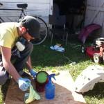 DIY repainting yamaho vino scooter