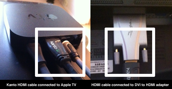 Apple TV to Computer Monitor with HDMI cable