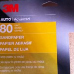 80 grit sandpaper for diy scooter paint project