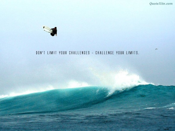 Motivational Quote - challenge your limits