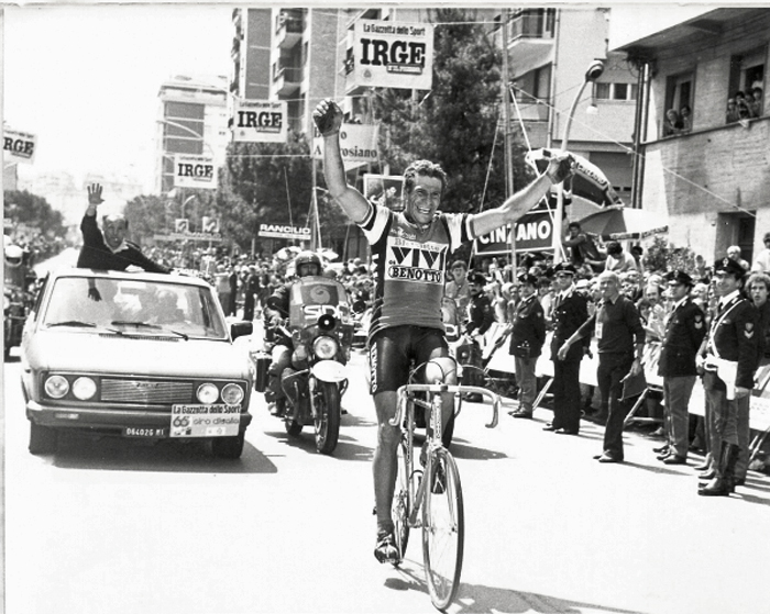Braun Gregor Winning the 1983 German National Road Race on a Benotto