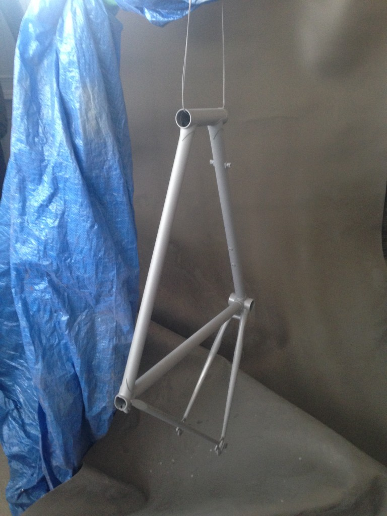 Bike frame primed